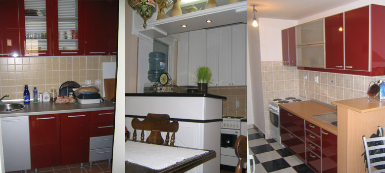 Custom kitchens of MDF and chipboard